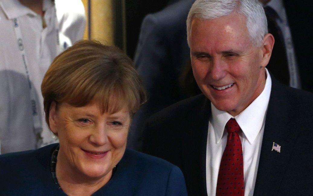 Ангела Меркель и Майк Пенс / © Reuters