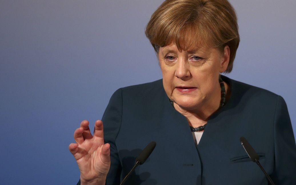 Меркель заявила, что аннексия Крыма Россией сделала НАТО чрезвычайно важным в Европе / © Reuters