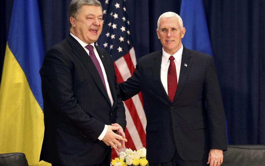 Петр Порошенко и Майк Пенс / © Reuters