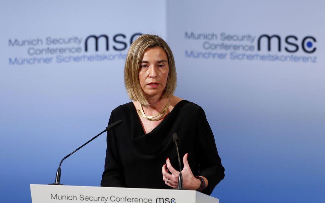 "Могерини заявила, что санкции с РФ не снимут до полного выполнения ""Минска"" / © Reuters"