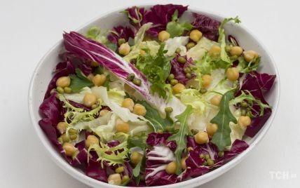 Салат із запеченої капусти і нуту: смачно і корисно