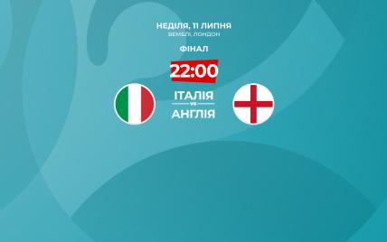 Италия - Англия - 1:1 Онлайн-трансляция финала Евро-2020