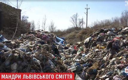 Печальноизвестный львовский мусор нелегально выгрузили под Киевом