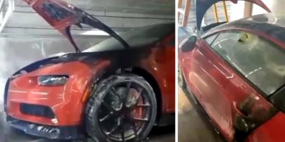 У Маямі на парковці згорів Bugatti за 2,9 млн доларів (відео)