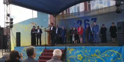 """""""Почти Азаров"""": мэр Кодымы едва не сломал язык, поздравляя горожан с Днем города (видео)"""