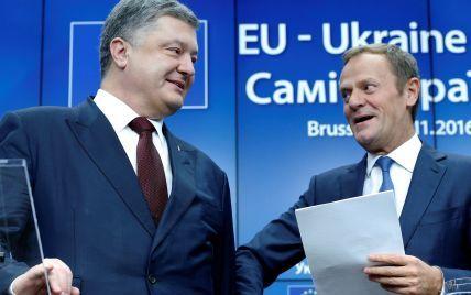 Продление санкций против РФ и безвиз для Украины. О чем говорили Порошенко и Туск