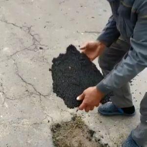 На Волині показали неякісний ремонт дороги: можна взяти шматок асфальту до рук