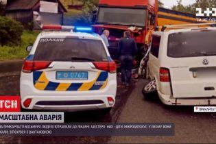 Новини України: під час аварії на Прикарпатті постраждали 6 дітей