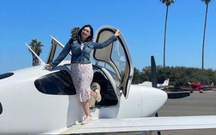 Соломия Витвицкая показала, как путешествовала по Калифорнии на маленьком самолете