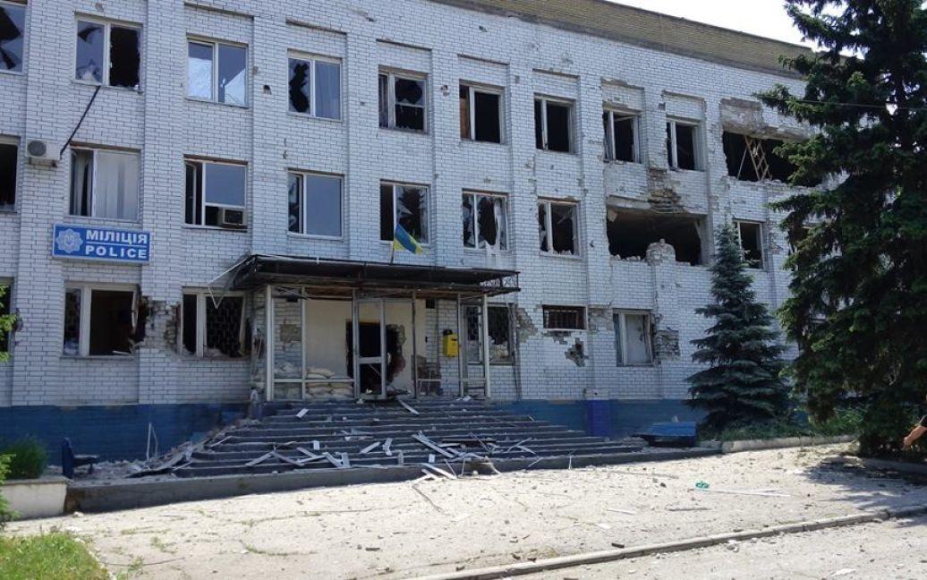 Марьинка находится под контролем сил АТО. / © Facebook/пресс-центр штаба АТО