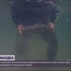Небезпечна знахідка у курортній Кирилівці: з води дістали боєприпас