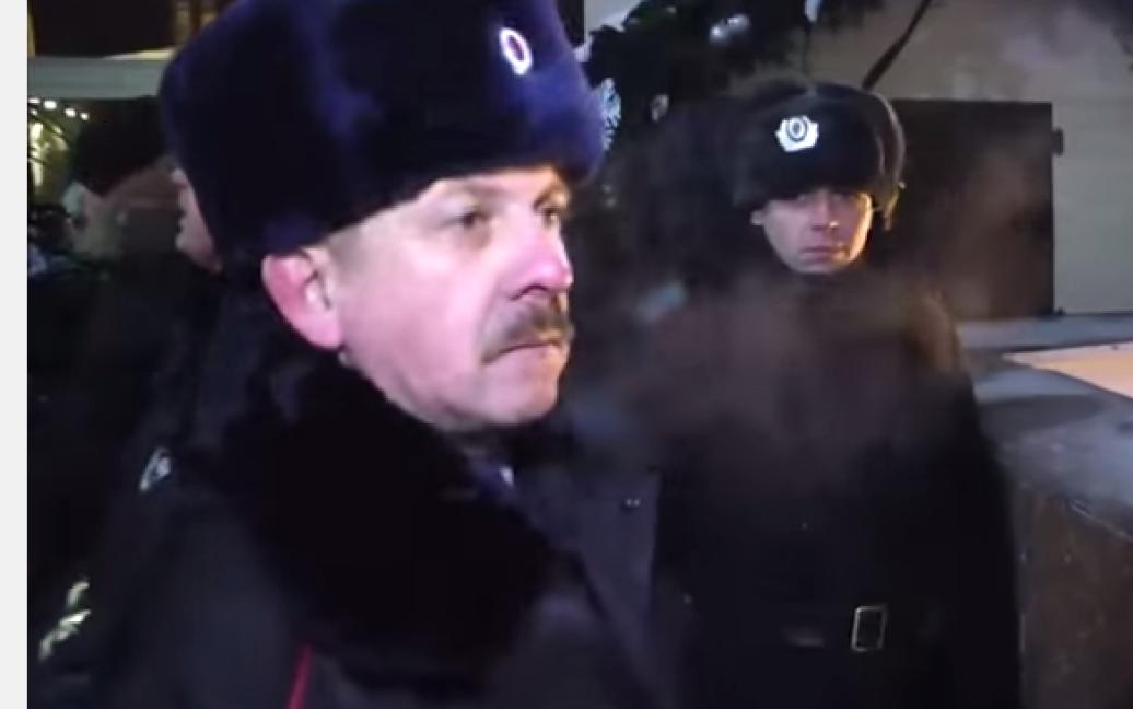 Петро Федчук у формі російської поліції. / © perec.in.ua