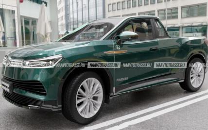 В стиле Renault Duster: в Сети показали стильный пикап ЛАЗ