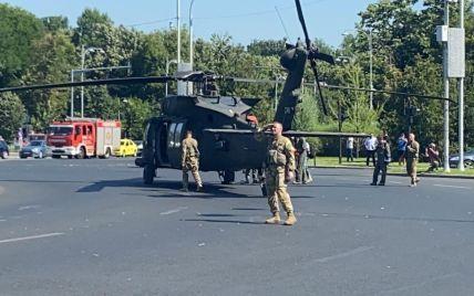 В Бухаресте совершил аварийную посадку американский военный вертолет: видео