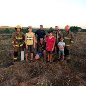 В Одесской области школьники остановили пожар, направляющийся к дачному массиву: появилось фото