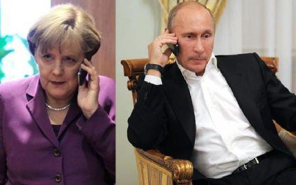 Путін пообіцяв Меркель сприяти мирному врегулюванню конфлікту в Україні