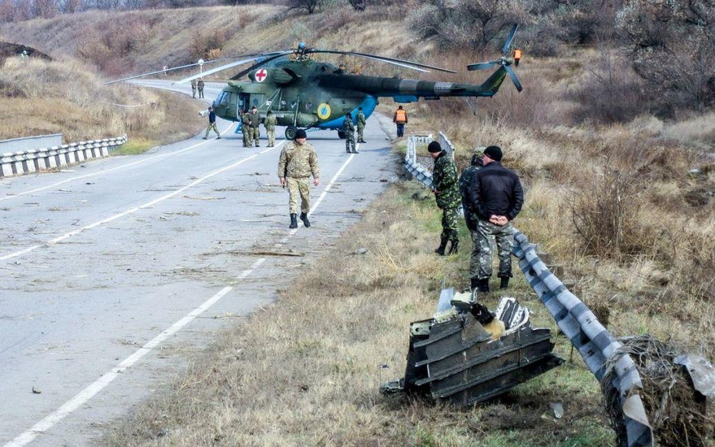 Фото были сделаны в первый час после авиакатастрофы / © vv.com.ua