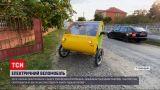Новости Украины: житель Ровенской области сконструировал трехколесное авто из фанеры
