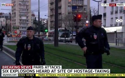 Біля магазину в Парижі, де утримують заручників, пролунала серія вибухів