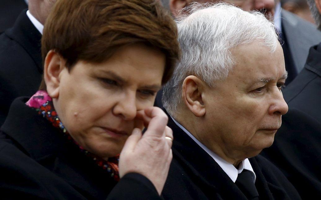 Председатель правящей партии Ярослав ачинский и глава правительства Беата Шидло / © Reuters