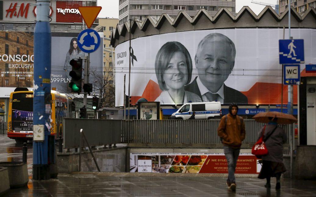 Лех Качиньский и его супруга / © Reuters