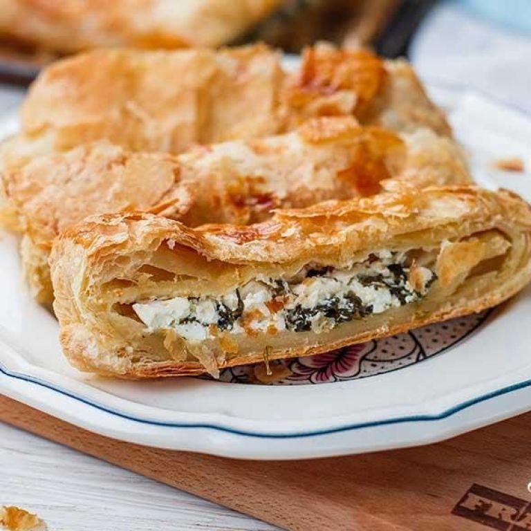 Пирог со шпинатом и фетой от Евгения Клопотенко