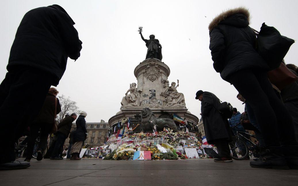 Люди традиционно собрались на Площади Республики. / © Reuters