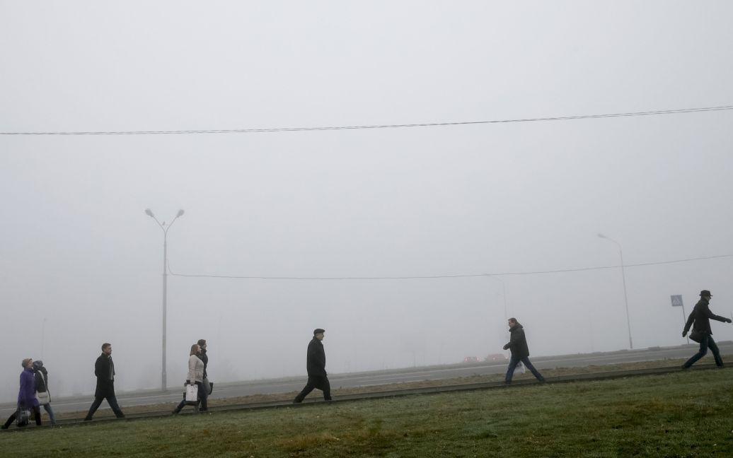 Киев накрыл густой туман / © Reuters