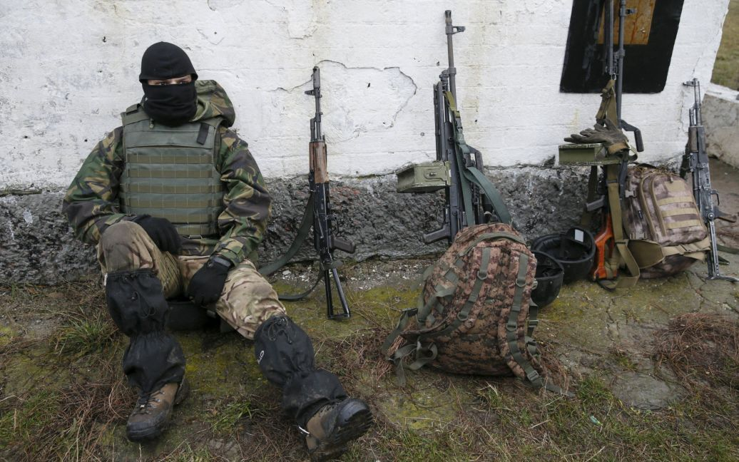Хмельницкой области состоялись учения украинских военных. / © Reuters