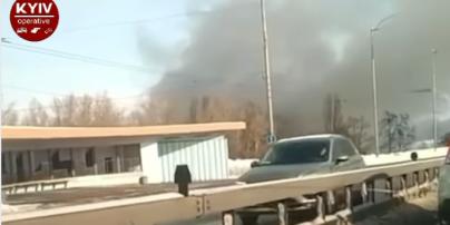 У Києві сталася пожежа у парку Муромець (відео)