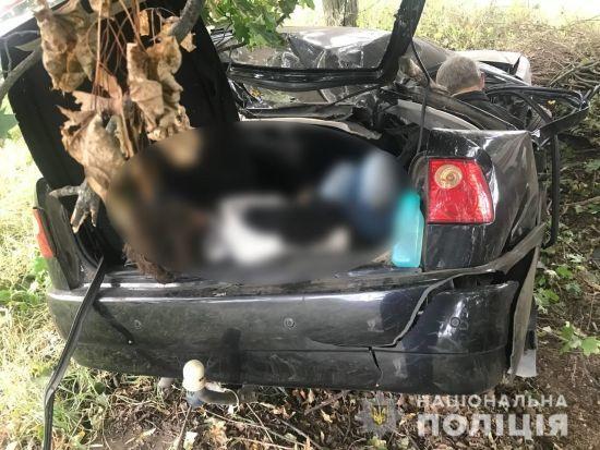 Пассажирка оказалась в багажнике: на Киевщине три человека погибли в ДТП (фото)